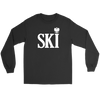Polish Surnames Ski - Gildan Long Sleeve Tee / Black / S - Polish Shirt Store