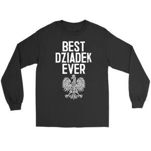 Best Dziadek Ever Polish Eagle Gift - Gildan Long Sleeve Tee / Black / S - Polish Shirt Store