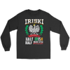 IRISKI Polish Irish Mix - Gildan Long Sleeve Tee / Black / S - Polish Shirt Store