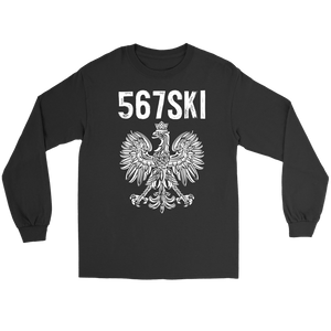 Toledo Ohio - 567 Area Code - Polish Pride - Gildan Long Sleeve Tee / Black / S - Polish Shirt Store