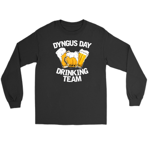Dyngus Day Drinking Team - Gildan Long Sleeve Tee / Black / S - Polish Shirt Store
