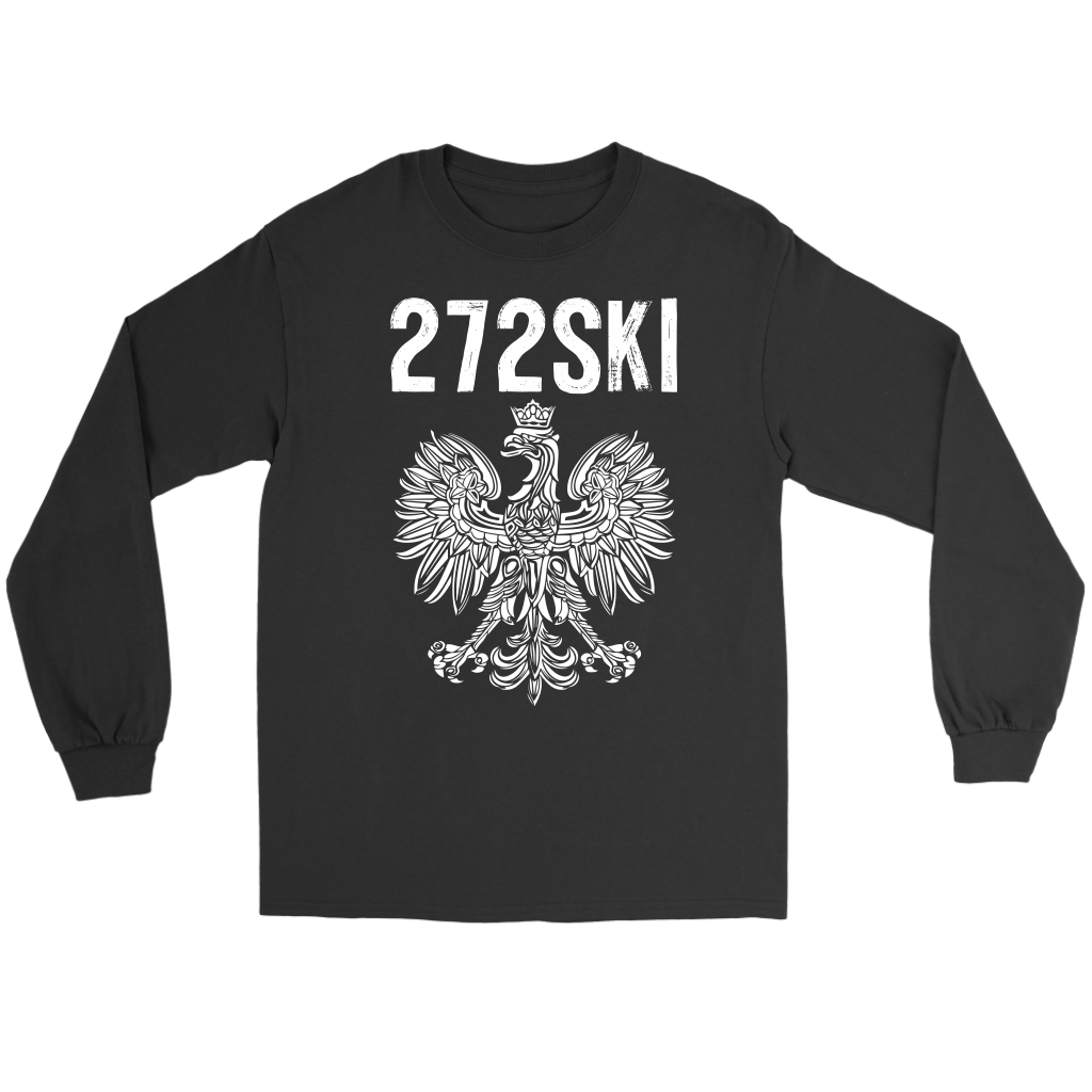 Scranton Pennsylvania - 272 Area Code - Gildan Long Sleeve Tee / Black / S - Polish Shirt Store