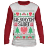 Wesolych Swiat Merry Christmas Sublimated Long Sleeve - White/Red / S - Polish Shirt Store