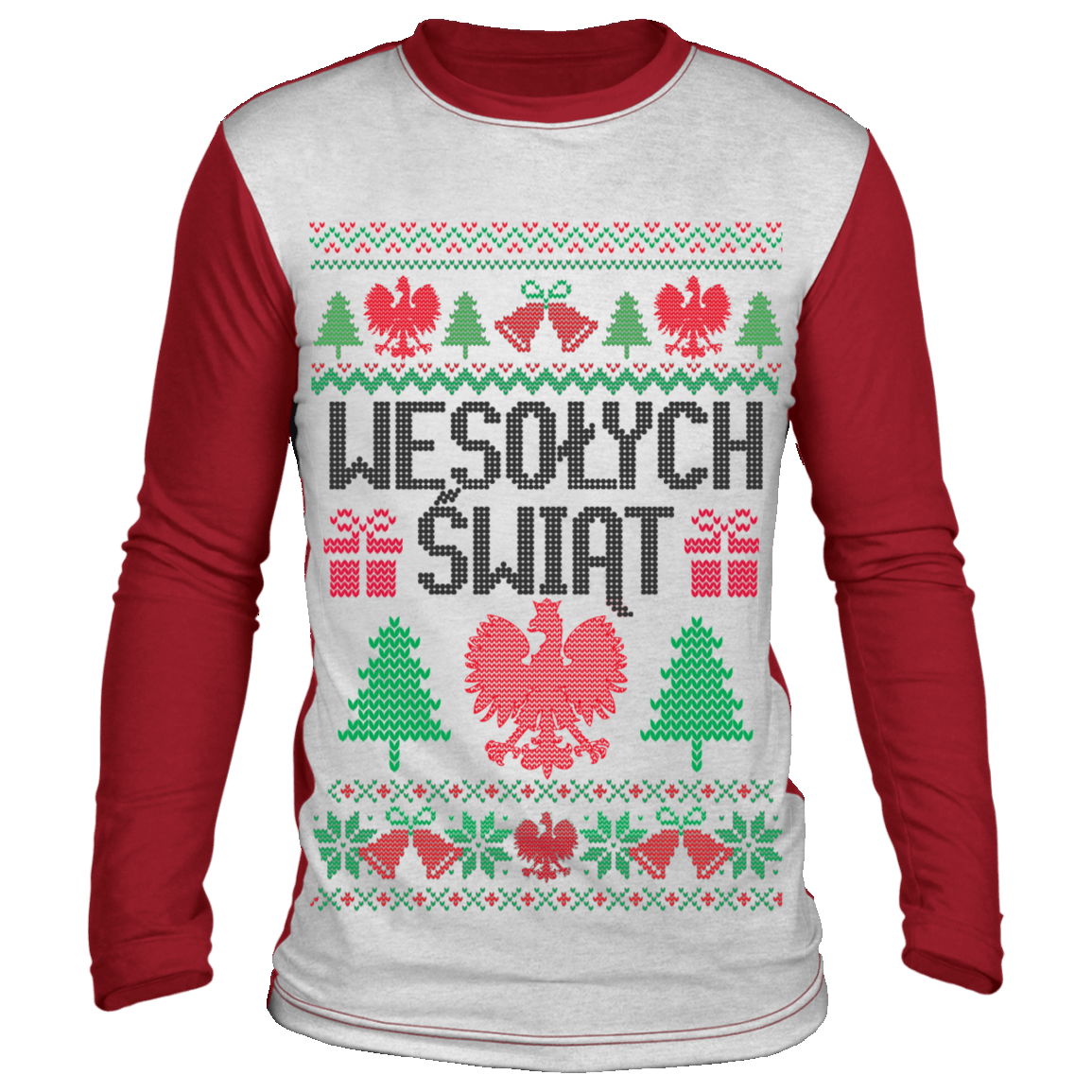 Merry Christmas In Polish - White/Red / S - Polish Shirt Store