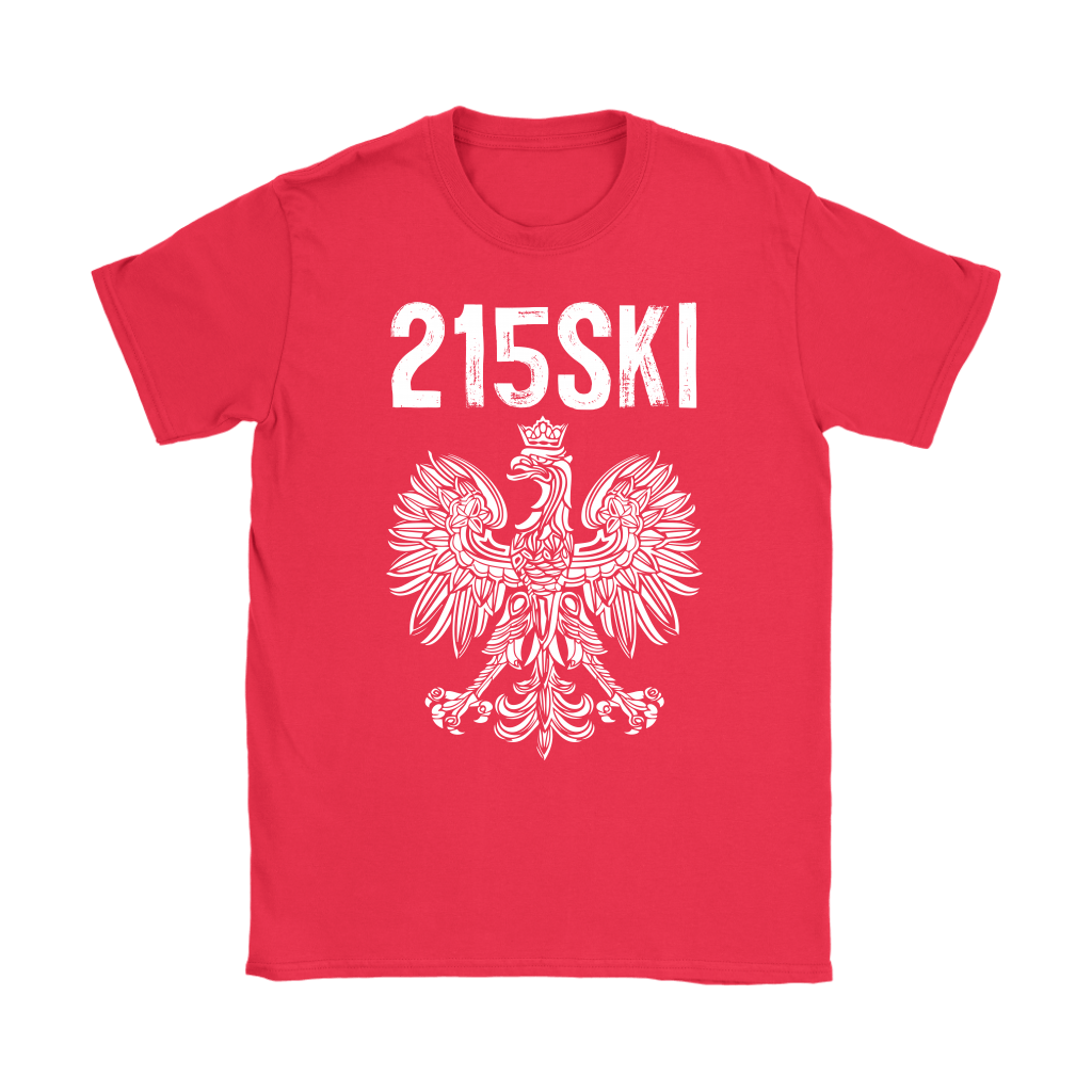 215SKI Pennsylvania Polish Pride - Gildan Womens T-Shirt / Red / S - Polish Shirt Store