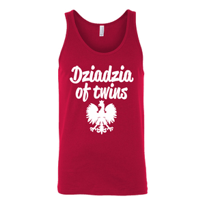 Dziadzia of Twins Gift - Canvas Unisex Tank / Red / S - Polish Shirt Store