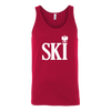 Polish Surnames Ski - Canvas Unisex Tank / Red / S - Polish Shirt Store