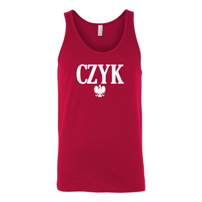 Polish Surnames ending in CZYK - Canvas Unisex Tank / Red / S - Polish Shirt Store