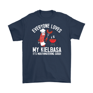 Everyone Loves My Kielbasa - Kielbasa Festival - Gildan Mens T-Shirt / Navy / S - Polish Shirt Store