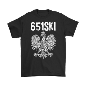 651SKI Minnesota Polish Pride - Gildan Mens T-Shirt / Black / S - Polish Shirt Store