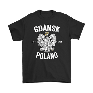 Gdansk Poland - Gildan Mens T-Shirt / Black / S - Polish Shirt Store