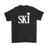 Polish Surnames Ski - Gildan Mens T-Shirt / Black / S - Polish Shirt Store