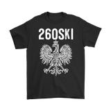 Indiana Polish Pride - 260 Area Code - Gildan Mens T-Shirt / Black / S - Polish Shirt Store