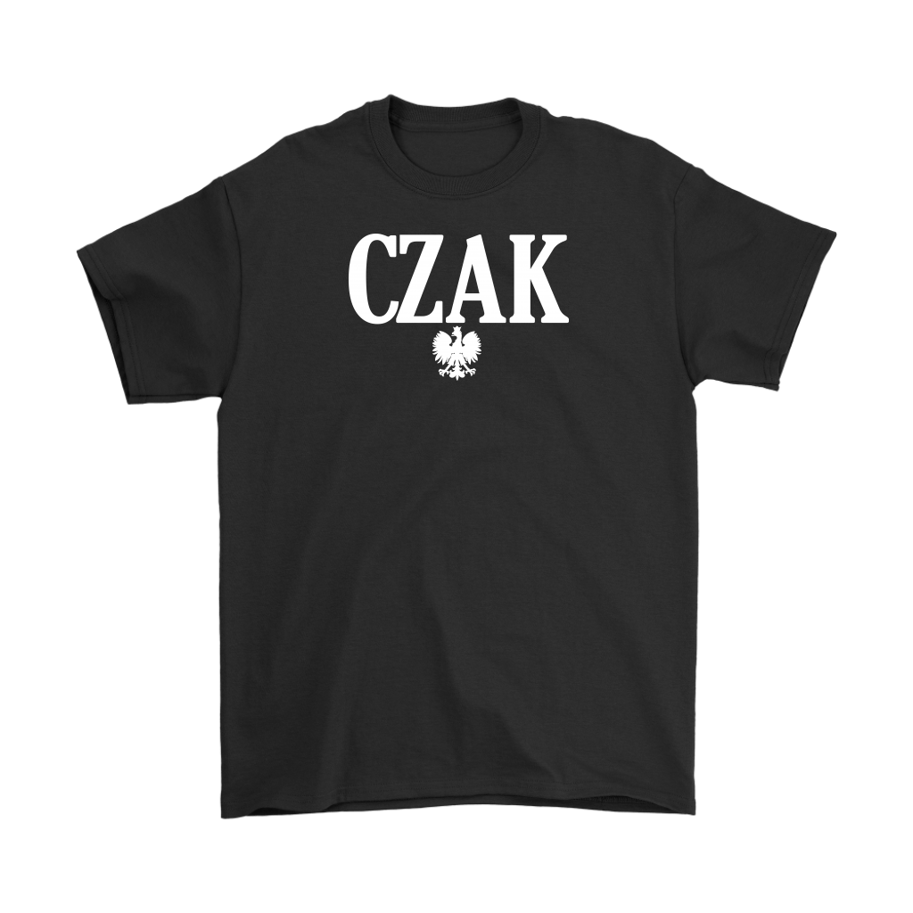 Polish Surname Ending in CZAK - Gildan Mens T-Shirt / Black / S - Polish Shirt Store