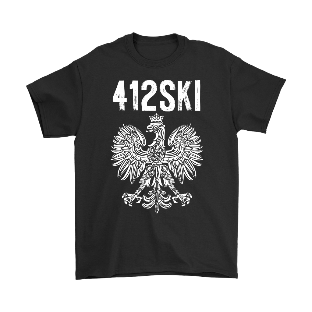 412SKI Pittsburgh Polish Pride - Gildan Mens T-Shirt / Black / S - Polish Shirt Store