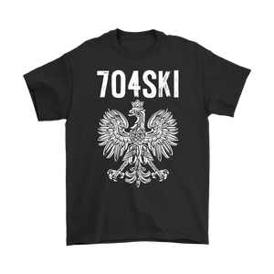 704SKI North Carolina Polish Pride - Gildan Mens T-Shirt / Black / S - Polish Shirt Store