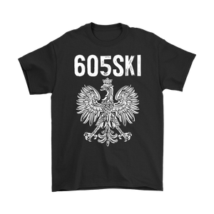 605SKI South Dakota Polish Pride - Gildan Mens T-Shirt / Black / S - Polish Shirt Store