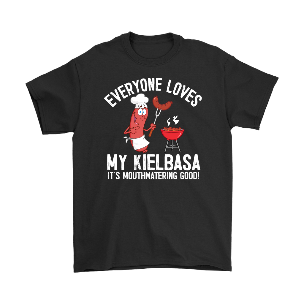 Everyone Loves My Kielbasa - Kielbasa Festival - Gildan Mens T-Shirt / Black / S - Polish Shirt Store