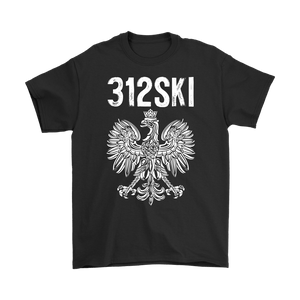 312SKI Illinois Polish Proud - Gildan Mens T-Shirt / Black / S - Polish Shirt Store
