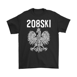 Idaho - 208 Area Code - Polish Pride - Gildan Mens T-Shirt / Black / S - Polish Shirt Store