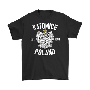 Katowice Poland - Gildan Mens T-Shirt / Black / S - Polish Shirt Store