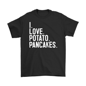 I Love Potato Pancakes - Gildan Mens T-Shirt / Black / S - Polish Shirt Store