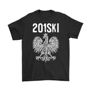 New Jersey Polish Pride - Area Code 201 - Gildan Mens T-Shirt / Black / S - Polish Shirt Store