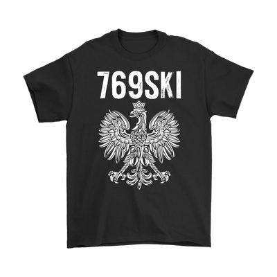 769SKI Mississippi Polish Pride - Gildan Mens T-Shirt / Black / S - Polish Shirt Store