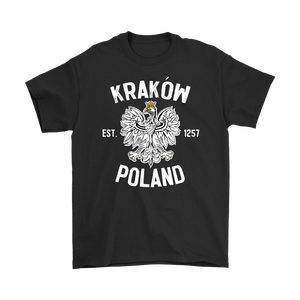 Krakow Poland - Gildan Mens T-Shirt / Black / S - Polish Shirt Store
