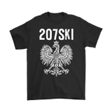 Maine - 207 Area Code - 207SKI - Gildan Mens T-Shirt / Black / S - Polish Shirt Store
