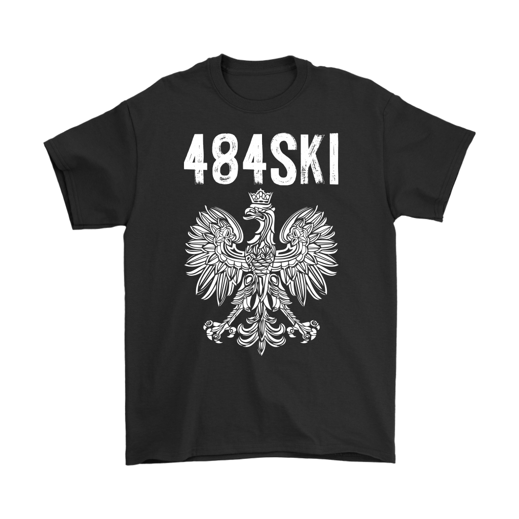 484SKI Pennsylvania Polish Pride - Gildan Mens T-Shirt / Black / S - Polish Shirt Store