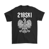 Minnesota - 218 Area Code - 218SKI - Gildan Mens T-Shirt / Black / S - Polish Shirt Store