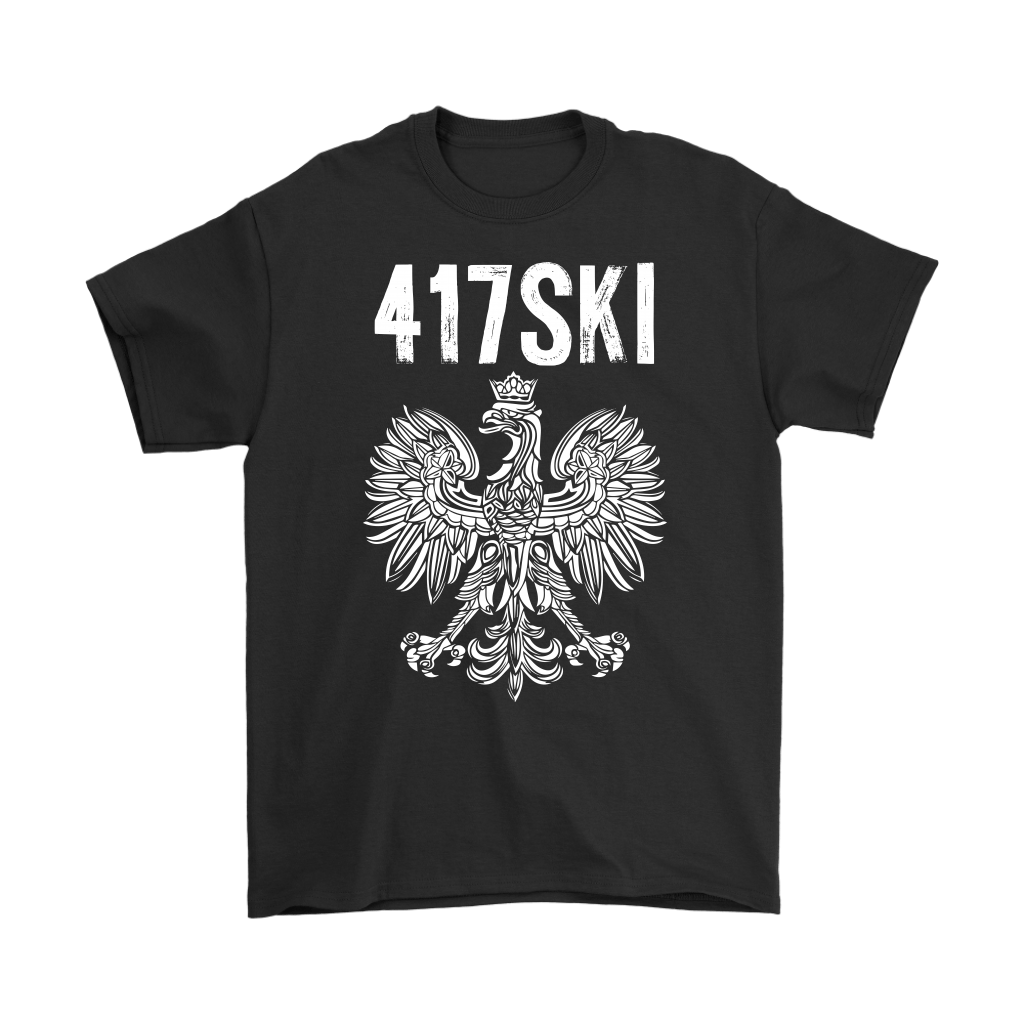 417SKI Missouri Polish Pride - Gildan Mens T-Shirt / Black / S - Polish Shirt Store