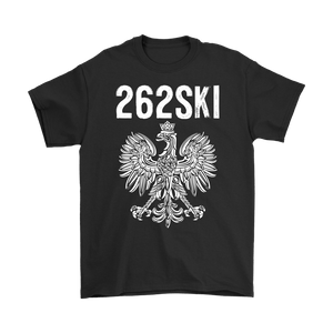 Wisconsin Polish Pride - 262 Area Code - Gildan Mens T-Shirt / Black / S - Polish Shirt Store