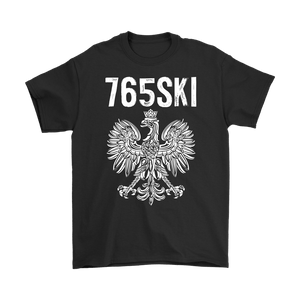 765SKI Indiana Polish Pride - Gildan Mens T-Shirt / Black / S - Polish Shirt Store