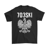 703SKI Virginia Polish Pride - Gildan Mens T-Shirt / Black / S - Polish Shirt Store