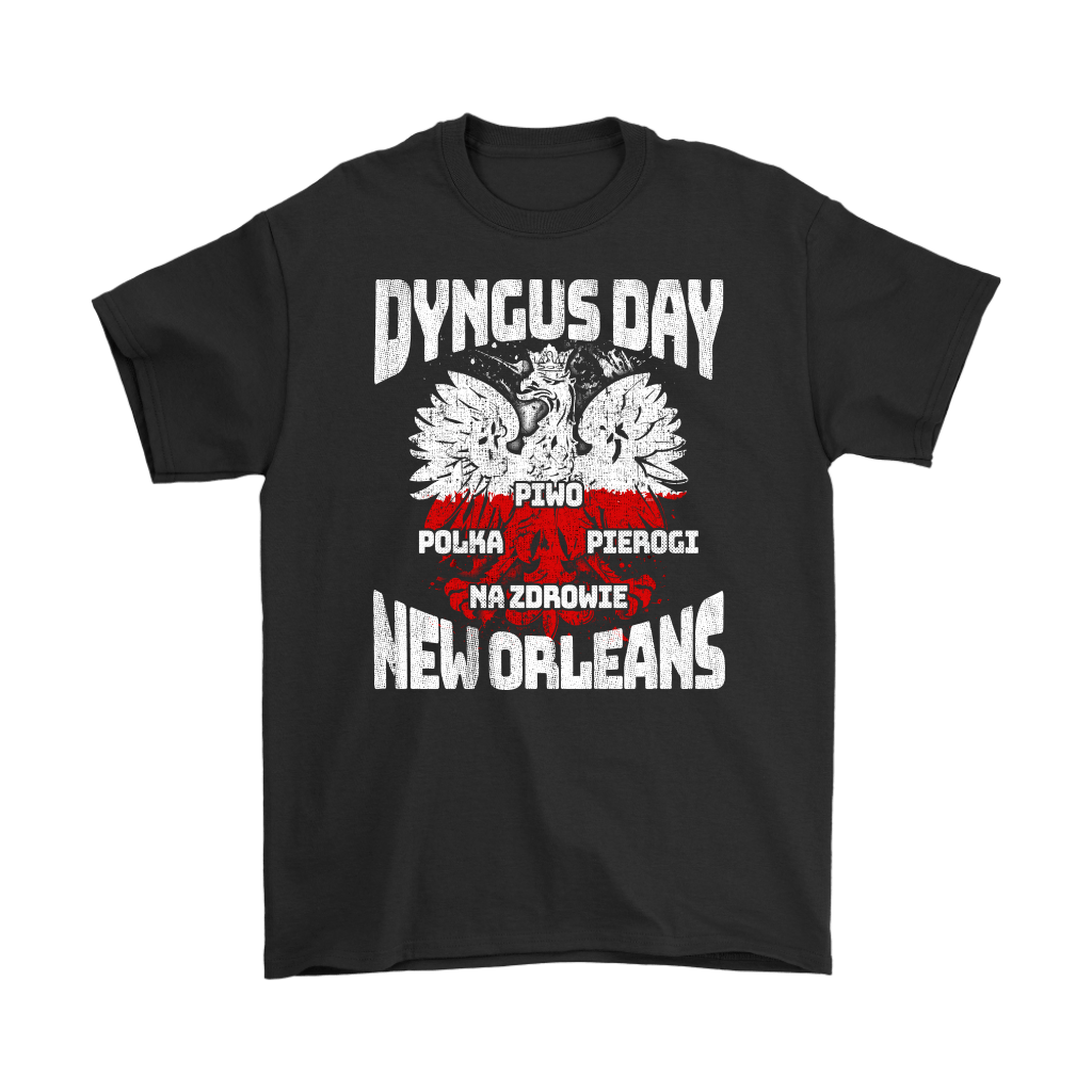 Dyngus Day New Orleans - Gildan Mens T-Shirt / Black / S - Polish Shirt Store