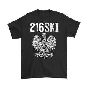 Cleveland Ohio - 216 Area Code - 216SKI - Gildan Mens T-Shirt / Black / S - Polish Shirt Store
