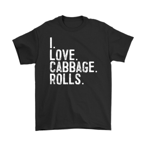 I Love Cabbage Rolls - Gildan Mens T-Shirt / Black / S - Polish Shirt Store