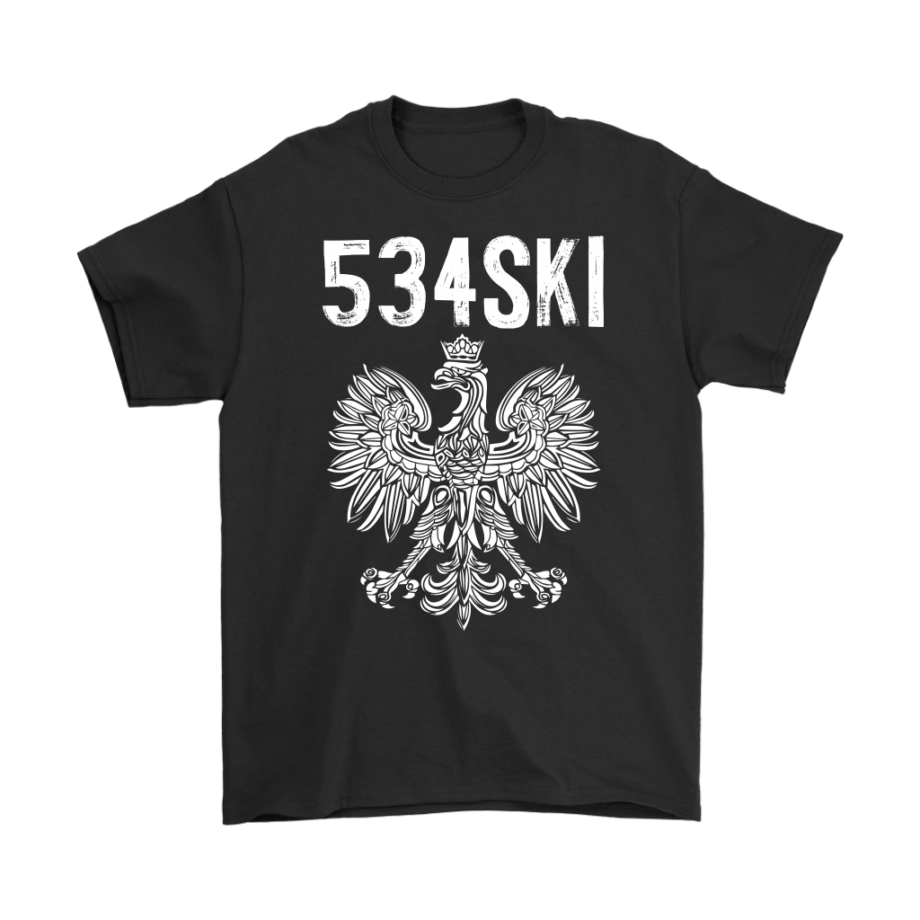 534SKI Wisconsin Polish Pride - Gildan Mens T-Shirt / Black / S - Polish Shirt Store