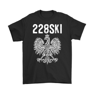 Mississippi Polish Pride - 228 Area Code - Gildan Mens T-Shirt / Black / S - Polish Shirt Store