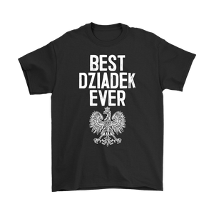 Best Dziadek Ever Polish Eagle Gift - Gildan Mens T-Shirt / Black / S - Polish Shirt Store