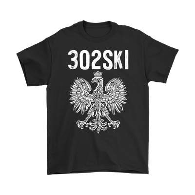 302SKI Delaware Polish Pride - Gildan Mens T-Shirt / Black / S - Polish Shirt Store