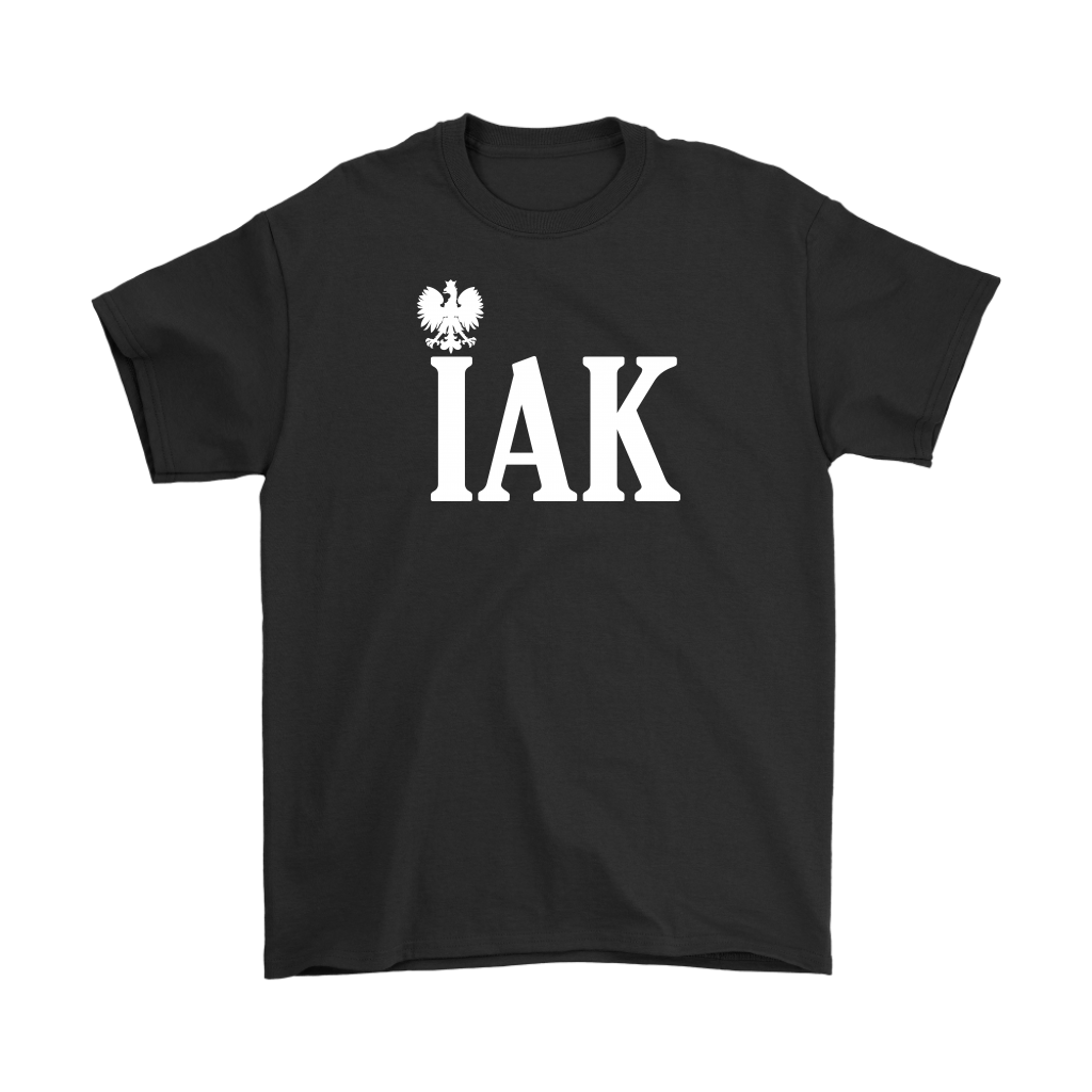 Polish Surname Ending in IAK - Gildan Mens T-Shirt / Black / S - Polish Shirt Store