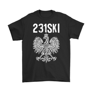 Michigan Polish Pride - 231 Area Code - Gildan Mens T-Shirt / Black / S - Polish Shirt Store