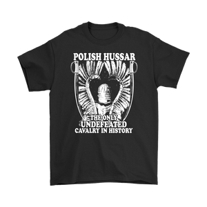 Polish Hussar - Gildan Mens T-Shirt / Black / S - Polish Shirt Store