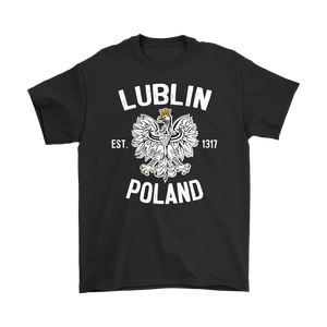 Lublin Poland - Gildan Mens T-Shirt / Black / S - Polish Shirt Store