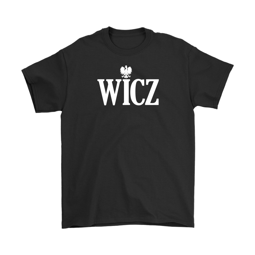 Polish Surnames Ending In WICZ - Gildan Mens T-Shirt / Black / S - Polish Shirt Store