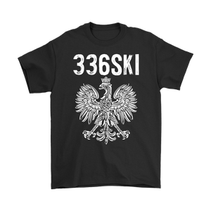 336SKI North Carolina Polish Pride - Gildan Mens T-Shirt / Black / S - Polish Shirt Store
