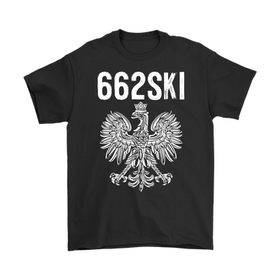 662SKI Mississippi Polish Pride - Gildan Mens T-Shirt / Black / S - Polish Shirt Store